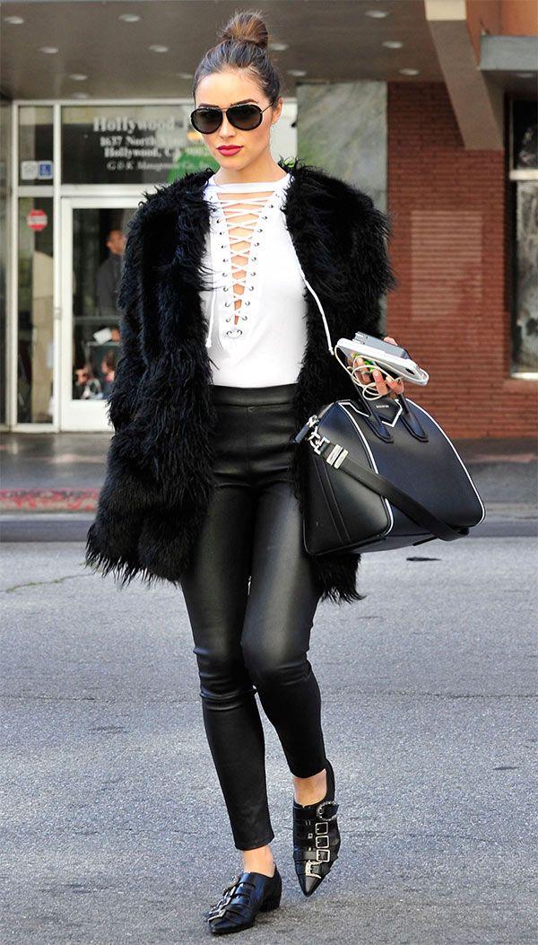 black-leggings-white-top-sun-bun-hairr-black-jacket-coat-fur-black-bag-black-shoe-booties-oliviaculpo-fall-winter-lunch.jpg