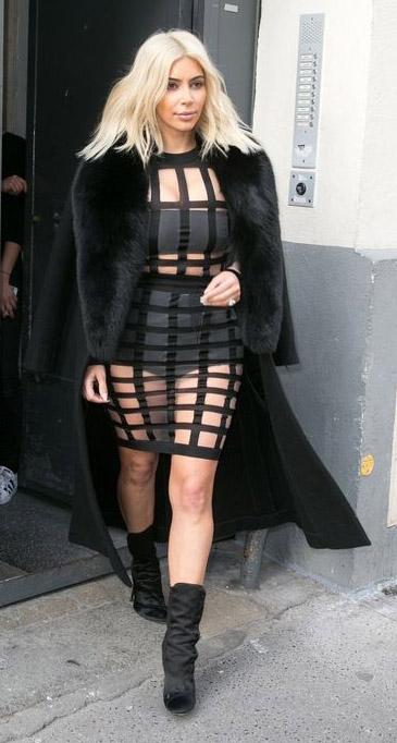 black-dress-cage-seethrough-black-jacket-coat-fur-black-shoe-booties-kimkardashian-blonde-fall-winter-dinner.jpg