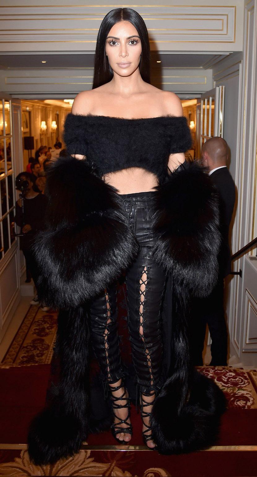 black-top-crop-black-jacket-coat-fur-maxi-oversized-leather-kimkardashian-brun-fall-winter-dinner.jpg
