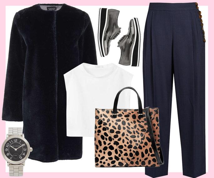 black-wideleg-pants-white-crop-top-black-jacket-coat-fur-black-shoe-brogues-watch-leopard-print-tan-bag-howtowear-valentinesday-outfit-fall-winter-movies-dinner.jpg