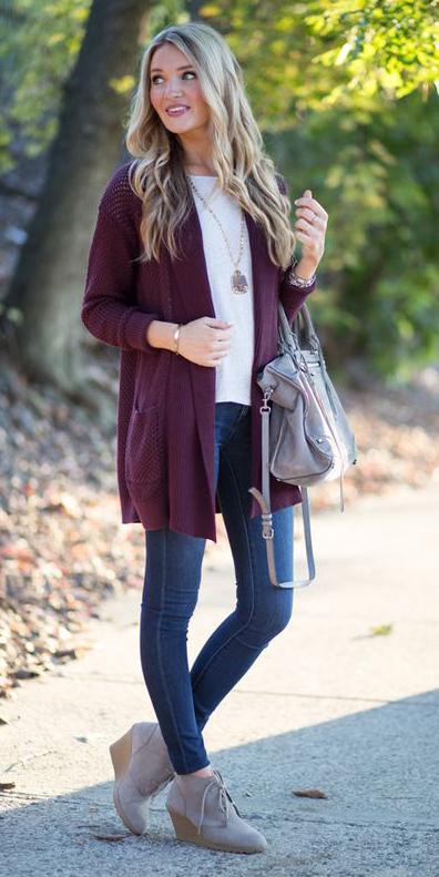 blue-navy-skinny-jeans-tan-shoe-booties-necklace-pend-white-tee-burgundy-cardiganl-fall-winter-blonde-weekend.jpg