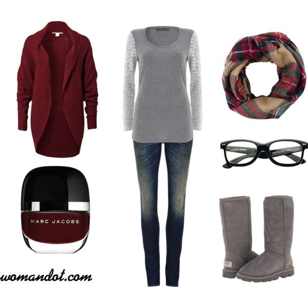 blue-navy-skinny-jeans-grayl-tee-gray-shoe-boots-red-scarf-burgundy-cardiganl-howtowear-fashion-style-outfit-fall-winter-weekend.jpg