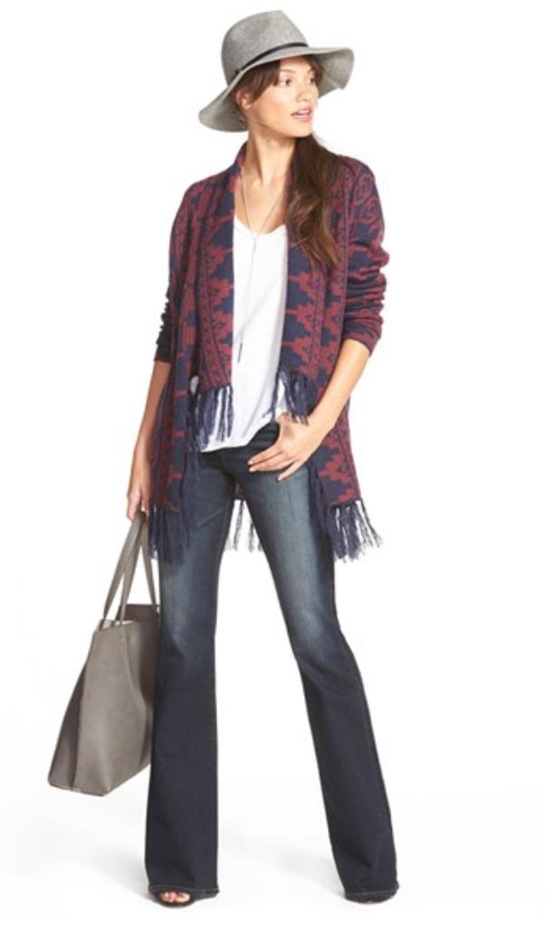 blue-navy-flare-jeans-white-tee-burgundy-cardiganl-gray-bag-necklace-wear-fashion-style-spring-summer-hat-brun-weekend.jpg