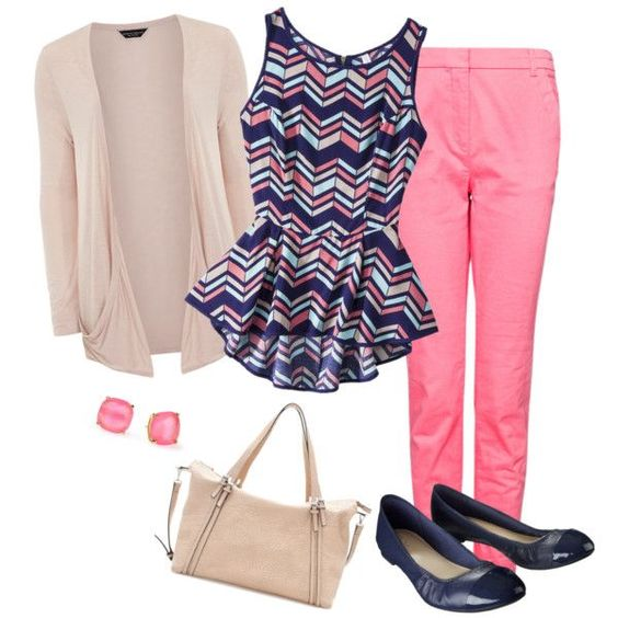 r-pink-magenta-slim-pants-blue-navy-top-peplum-print-tan-cardiganl-blue-shoe-flats-studs-tan-bag-howtowear-fashion-style-outfit-spring-summer-lunch.jpg