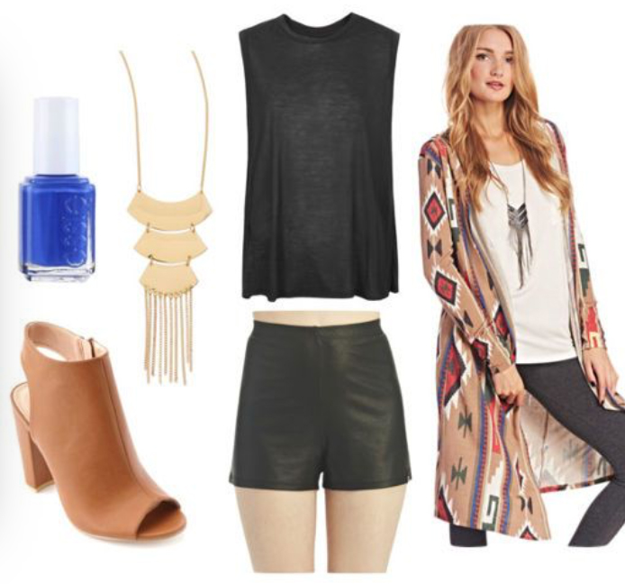 black-shorts-black-tee-nail-aztec-duster-howtowear-fashion-style-outfit-spring-summer-print-tan-cardiganl-cognac-shoe-booties-necklace-pend-leather-dinner.jpg