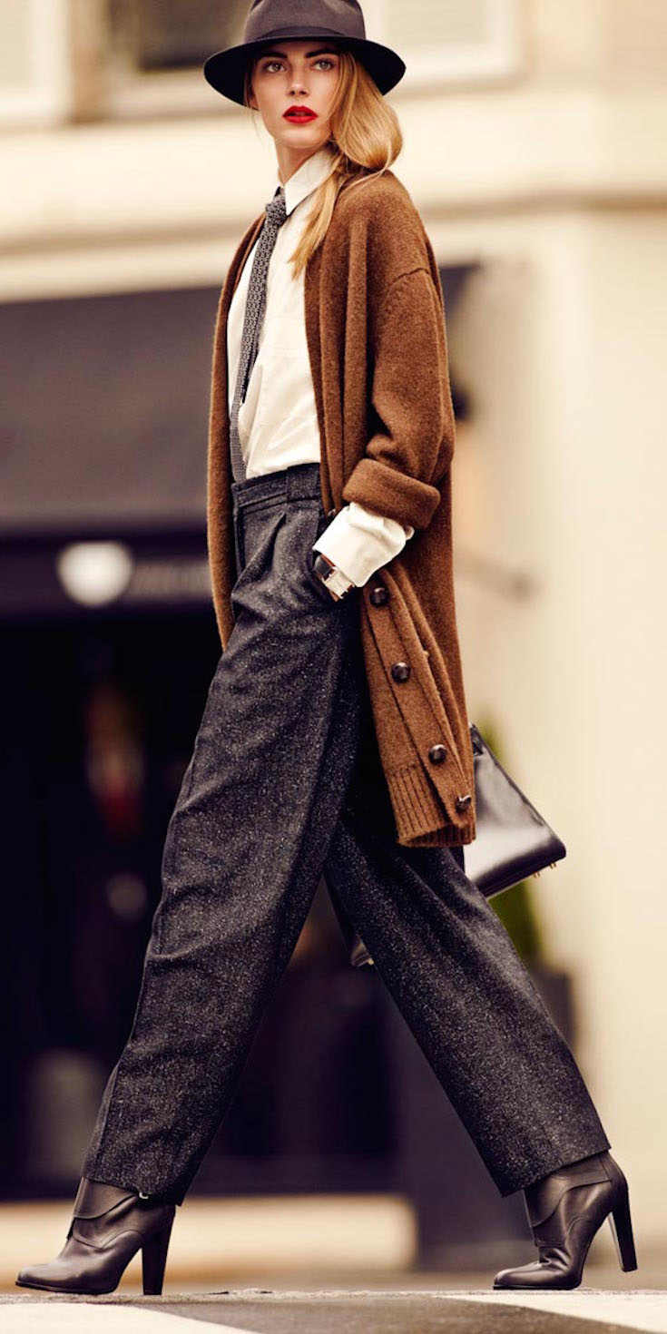 black-wideleg-pants-white-top-blouse-hat-black-shoe-booties-camel-cardiganl-fall-winter-blonde-work.jpg
