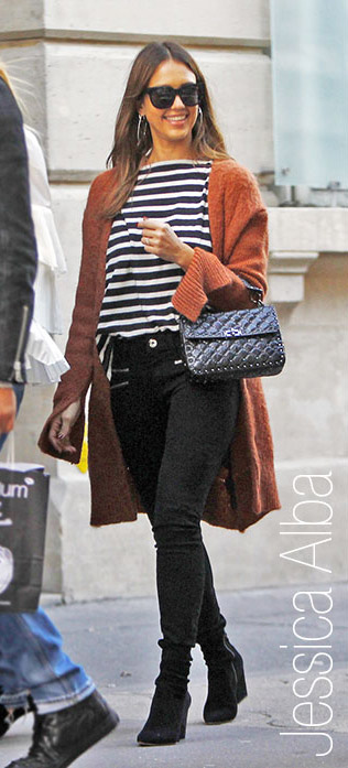 black-skinny-jeans-black-tee-stripe-camel-cardiganl-black-bag-sun-hairr-jessicaalba-fall-winter-weekend.jpg