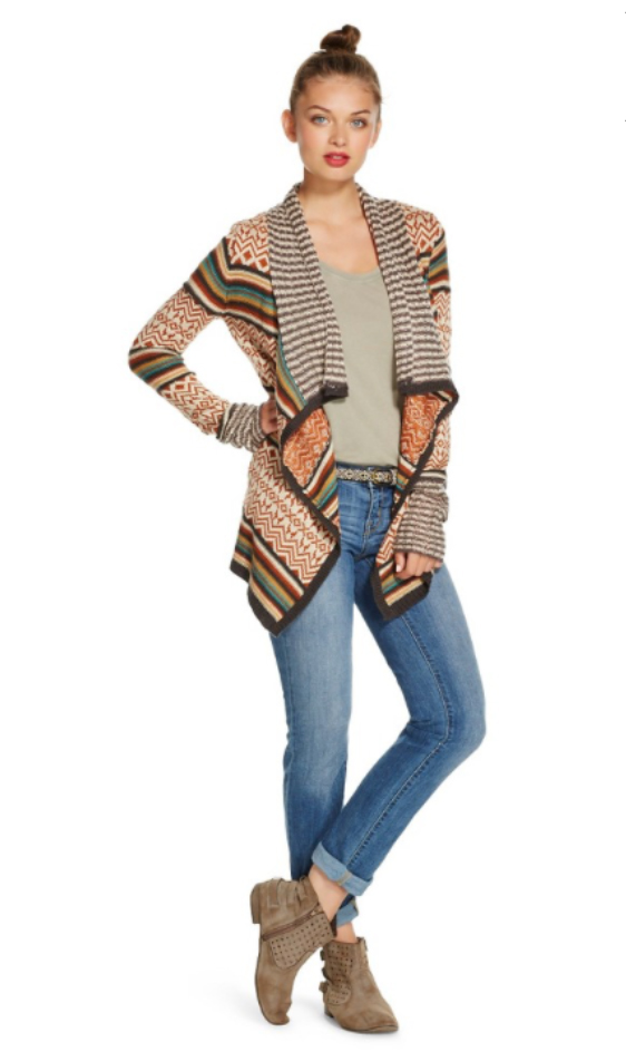 blue-light-skinny-jeans-o-tan-tee-howtowear-style-fashion-fall-winter-orange-cardiganl-stripe-tan-shoe-booties-belt-bun-hairr-weekend.jpg