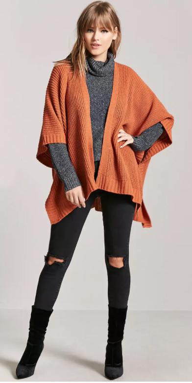 black-skinny-jeans-grayd-sweater-turtleneck-black-shoe-booties-orange-cardiganl-fall-winter-blonde-lunch.jpg