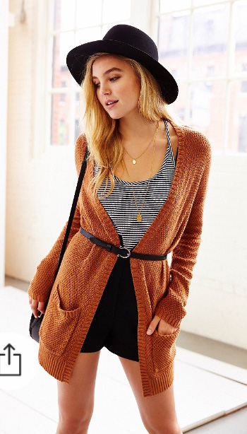 black-shorts-black-top-tank-stripe-orange-cardiganl-belt-black-bag-hat-necklace-urbanoutfitters-howtowear-fashion-style-outfit-fall-winter-blonde-weekend.jpg