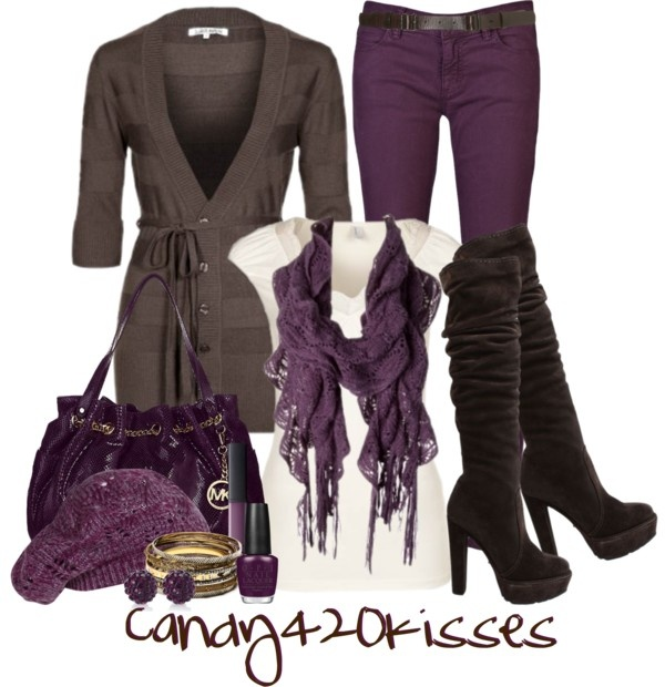 purple-royal-skinny-jeans-white-tee-purple-royal-scarf-purple-bag-nail-studs-bracelet-brown-cardiganl-brown-shoe-boots-beanie-howtowear-fashion-style-fall-winter-outfit-dinner.jpg