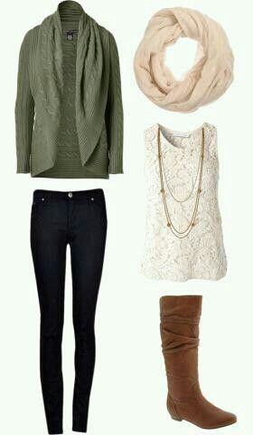 blue-navy-skinny-jeans-white-tank-lace-necklace-white-scarf-cognac-shoe-boots-green-olive-cardiganl-fall-winter-weekend.jpg