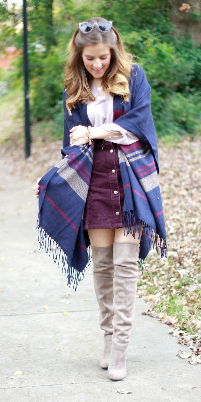 purple-royal-mini-skirt-corduroy-blue-navy-cardiganl-cape-tan-shoe-boots-otk-fall-winter-hairr-lunch.jpg