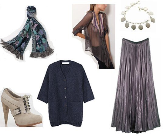 blue-navy-cardiganl-grayd-top-blouse-blue-navy-scarf-print-white-shoe-booties-metallic-pleat-necklace-grayd-maxi-skirt-fall-winter-lunch.jpg