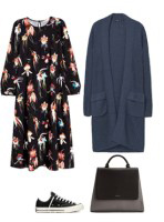 black-dress-floral-print-midi-blue-navy-cardiganl-black-shoe-sneakers-black-bag-fall-winter-lunch.jpg