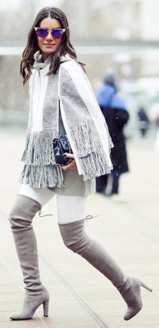 white-skinny-jeans-grayl-cardiganl-poncho-sun-hairr-gray-shoe-boots-otk-fall-winter-lunch.jpg