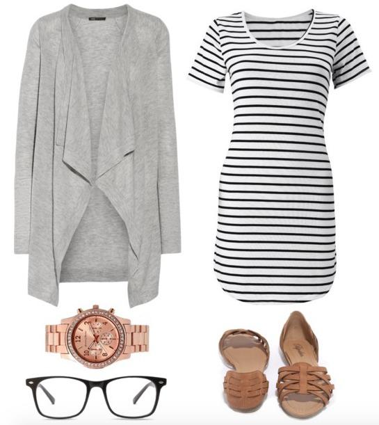 white-dress-stripe-grayl-cardiganl-tan-shoe-flats-watch-tshirt-howtowear-fashion-style-outfit-spring-summer-weekend.jpg