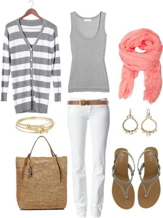 white-skinny-jeans-grayl-top-tank-grayl-cardiganl-stripe-belt-tan-bag-straw-peach-scarf-earrings-gray-shoe-sandals-howtowear-fashion-style-outfit-spring-summer-beach-weekend.jpg