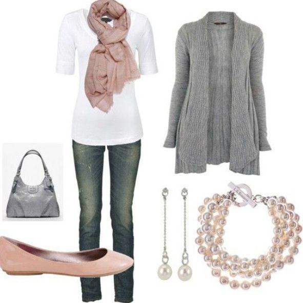 blue-navy-skinny-jeans-white-tee-pink-light-scarf-pearl-bracelet-earrings-grayl-cardiganl-pink-shoe-flats-gray-bag-howtowear-fashion-style-outfit-fall-winter-lunch.jpg