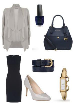 blue-navy-dress-grayl-cardiganl-gray-shoe-pumps-blue-navy-bag-skinny-belt-watch-nail-outfit-spring-summer-work.jpg