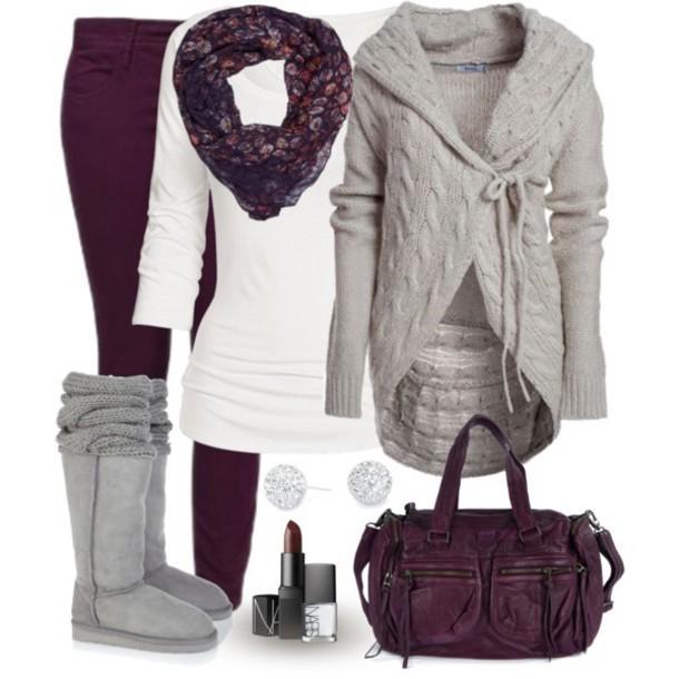 purple-royal-skinny-jeans-white-tee-purple-royal-scarf-grayl-cardiganl-gray-shoe-boots-purple-bag-studs-howtowear-fall-winter-fashion-style-outfit-weekend.jpg