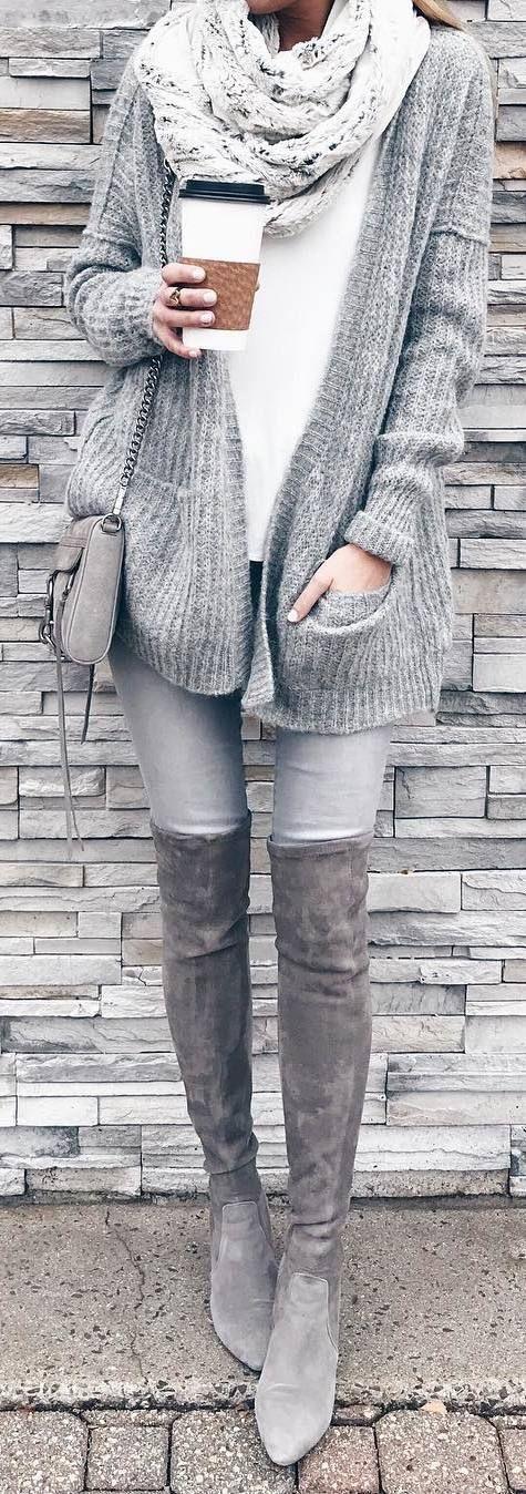 grayl-skinny-jeans-white-scarf-grayl-cardiganl-mono-gray-bag-gray-shoe-boots-otk-fall-winter-weekend.jpg