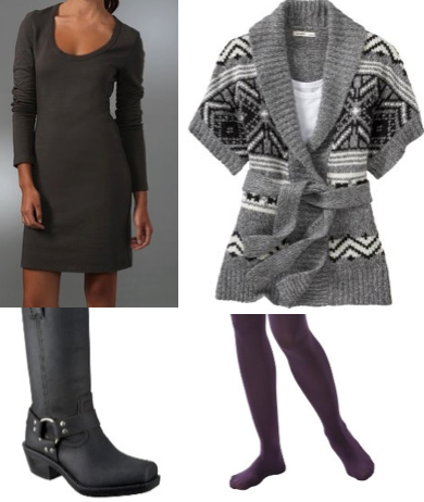 grayd-dress-sweater-grayl-cardiganl-print-fairisle-purple-tights-black-shoe-boots-howtowear-fashion-style-outfit-fall-winter-weekend.jpg