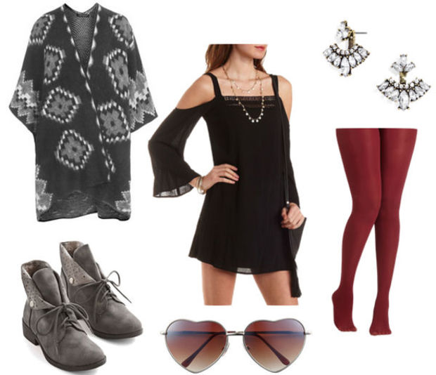 black-dress-grayd-cardiganl-red-tights-grayd-shoe-booties-fall-winter-lbd-mini-cape-poncho-earrings-peasant-offshoulder-lunch.jpg