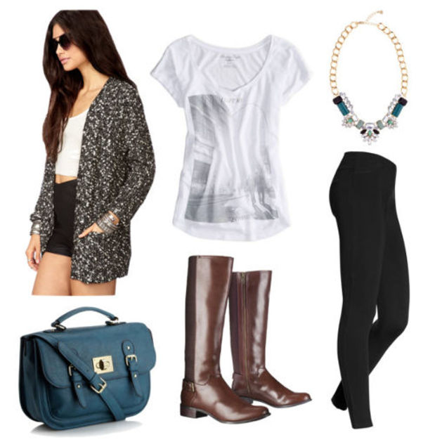 black-leggings-white-tee-grayd-cardiganl-brown-shoe-boots-howtowear-fashion-style-outfit-fall-winter-graphic-marl-bib-necklace-brun-blue-bag-lunch.jpg
