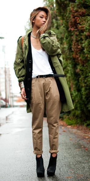 tan-chino-pants-green-olive-jacket-coat-layer-black-cardiganl-belt-black-shoe-booties-fall-winter-hairr-lunch.jpg