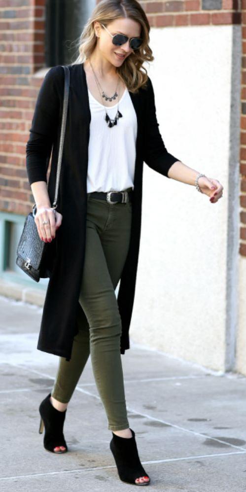 green-olive-skinny-jeans-necklace-black-shoe-sandalh-belt-black-cardiganl-fall-winter-blonde-work.jpg