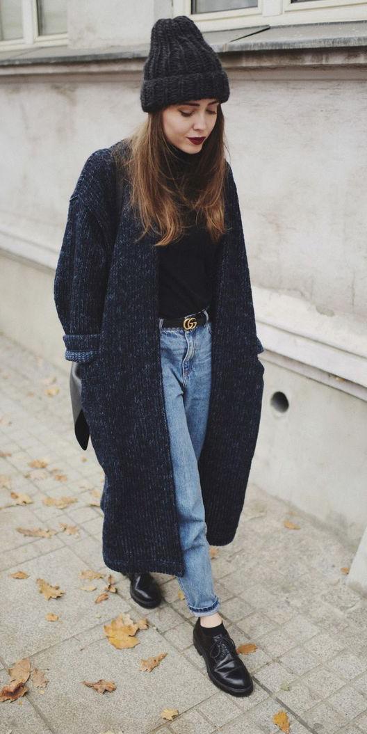 blue-light-boyfriend-jeans-belt-beanie-hairr-black-cardiganl-black-shoe-brogues-fall-winter-weekend.jpg