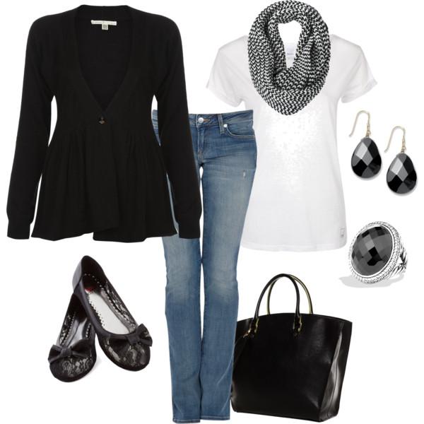blue-med-skinny-jeans-white-tee-black-howtowear-fashion-style-outfit-fall-winter-black-cardiganl-black-scarf-ballet-black-shoe-flats-jewel-black-earrings-ring-black-bag-weekend.jpg