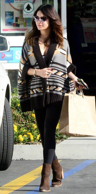black-leggings-brown-shoe-booties-black-cardiganl-aztec-print-sun-vanessahudgens-fall-winter-brun-weekend.jpg