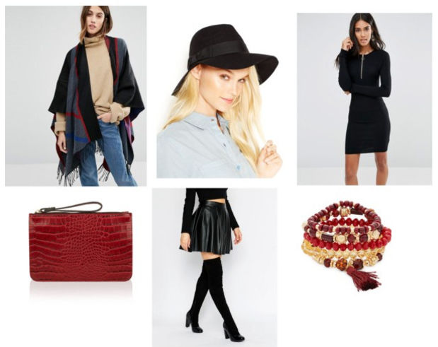 black-dress-black-cardiganl-poncho-black-shoe-booties-red-bag-clutch-black-hat-fall-bodycon-print-socks-bracelet-night-dinner.jpg