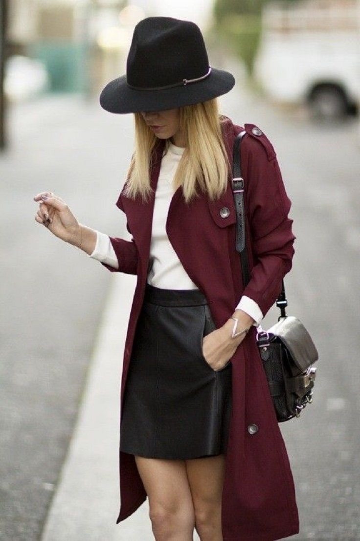black-mini-skirt-white-sweater-burgundy-jacket-coat-trench-hat-black-bag-howtowear-fashion-style-outfit-blonde-fall-winter-lunch.jpg