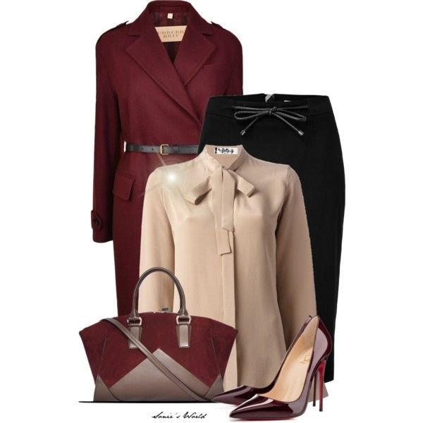 black-pencil-skirt-o-tan-top-blouse-bow-burgundy-jacket-coat-burgundy-bag-howtowear-fashion-style-outfit-fall-winter-belt-burgundy-shoe-pumps-office-work.jpg