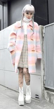 white-dress-jumper-pink-light-jacket-coat-white-shoe-booties-wear-style-fashion-fall-winter-plaid-turtleneck-japan-trend-blonde-lunch.jpg