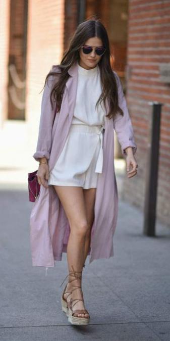 white-jumper-romper-tan-shoe-sandalw-sun-hairr-pink-light-jacket-coat-trench-spring-summer-weekend.jpg