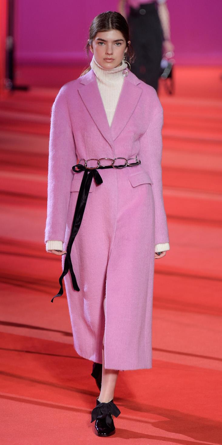 white-sweater-turtlenck-pony-black-shoe-booties-maxi-pink-light-jacket-coat-fall-winter-hairr-lunch.jpg