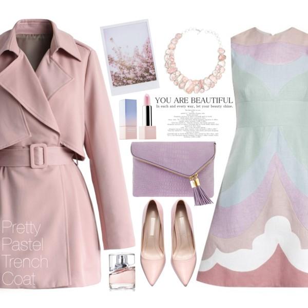 pink-light-dress-aline-pink-shoe-pumps-purple-bag-clutch-bib-necklace-pink-light-jacket-coat-trench-spring-summer-dinner.jpg