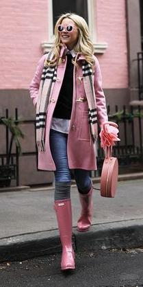 blue-med-skinny-jeans-pink-shoe-boots-wellies-rain-pink-light-scarf-plaid-pink-light-jacket-coat-sun-blonde-fall-winter-weekend.jpg