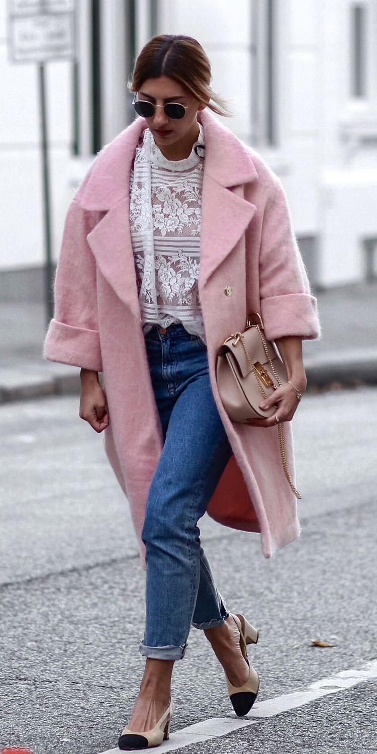 blue-med-boyfriend-jeans-white-top-blouse-lace-blonde-sun-tan-bag-tan-shoe-pumps-pink-light-jacket-coat-fall-winter-lunch.jpg