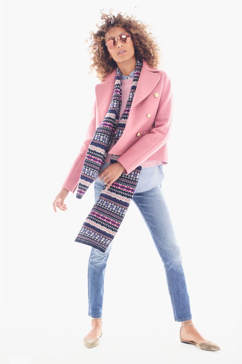 blue-light-skinny-jeans-blue-navy-scarf-fairisle-print-hairr-sun-blue-light-collared-shirt-pink-light-sweater-tan-shoe-flats-gold-pink-light-jacket-coat-peacoat-fall-winter-lunch.jpg