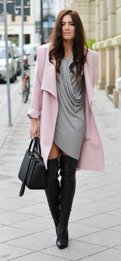 grayl-dress-mini-pink-light-jacket-coat-black-shoe-boots-black-bag-howtowear-fall-winter-brun-dinner.jpg