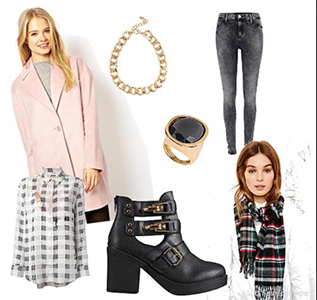 grayd-skinny-jeans-white-top-blouse-howtowear-style-fashion-fall-winter-pink-light-jacket-coat-black-shoe-booties-chain-necklace-ring-black-scarf-blonde-weekend.jpg