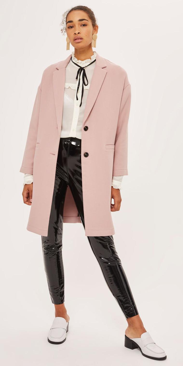 black-skinny-jeans-pink-light-jacket-coat-white-blouse-brun-earrings-white-shoe-pumps-mules-fall-winter-leather-patent-lunch.jpg