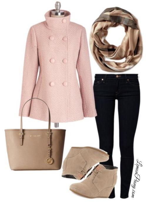 black-skinny-jeans-tan-scarf-tan-shoe-booties-tan-bag-pink-light-jacket-coat-fall-winter-lunch.jpg