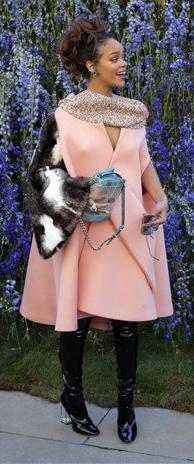 pink-light-jacket-coat-black-shoe-boots-fur-stole-wear-style-fashion-fall-winter-rihanna-celebrity-brunette-dinner.jpg
