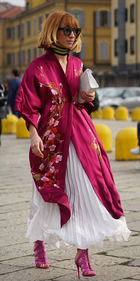 pink-magenta-jacket-coat-kimono-silk-choker-bob-hairr-plead-magenta-shoe-sandalh-white-maxi-skirt-fall-winter-dinner.jpg